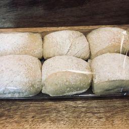Pão Mini Ciabattas - 6 Unidades