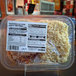 Ratatouille com arroz integral congelado