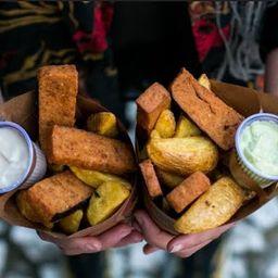 Pra 2! Fakie Fish & Chips! Novidade Vegano!