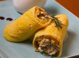 Omelete de Frango e Ricota