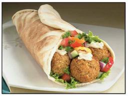 Falafel (vegetariano) pão árabe