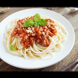 Espaguete de Palmito à Bolonhesa