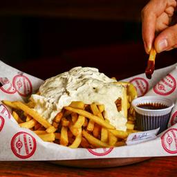 Porção de Batata + Melhor Pasta de Gorgonzola da Vida