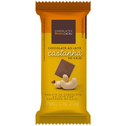 CBC Combo Leve 10 Pague 9 Tablete Chocolate Leite Castanha Caju