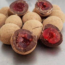 Drageado Cereja com Chocolate 70% (100g)