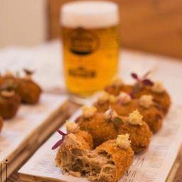 Croqueta de frango caipira e jamón