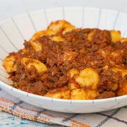 Gnocchi com Ragú Alla Bolognese