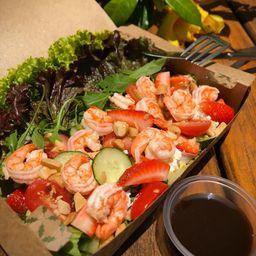 Salada Fragola e Gamberi