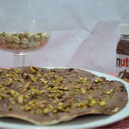 Pizza de Nutella com Pistache