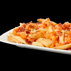 Porção de Batata Frita Com Cheddar e Bacon
