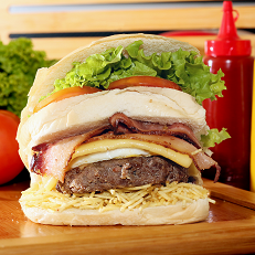 Combo burger+ batata+ coca-cola 350ml