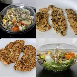 Salada Pasuri + Frango Grelhado ou Crispy