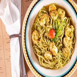 Spaghetti Gamberi Pesto