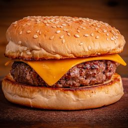 American Cheese Burger e French Fries
