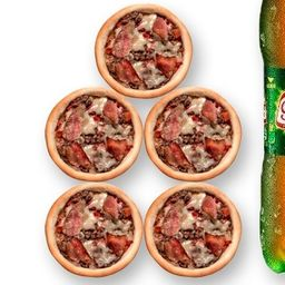 5 carne/bacon/queijo + 1 guaraná 1,5 lt