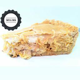 Fatia Torta de Frango com Cream Cheese