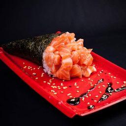 Temaki salmão simples unidade
