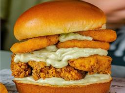 Onion Chicken Burger