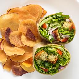 Wrap Árabe com Falafel