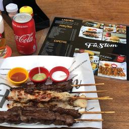 Espetinho de Carne com Bacon