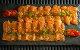 Carpaccio de salmão, atum ou peixe branc
