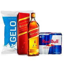 Red Label + Red Bull + Gelo + 1 Brinde