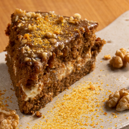 Bolo Toffee Nut Cake - Fatia
