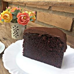 Bolo de Chocolate Belga - fatia