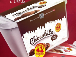 Sorvete Tradicional de Chocolate - 2L
