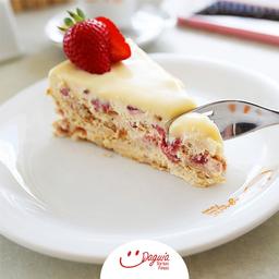 Torta Alemã Morango - Fatia