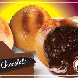 Espetinho de Pão Bolinha de Chocolate