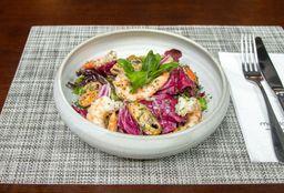Salada de marisco  e camarão