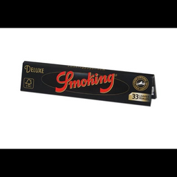Seda Smoking Deluxe Preta Grande 33 Folhas