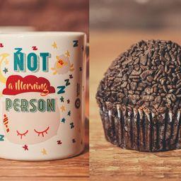 Caneca Morning com Cupcake Brigadeiro