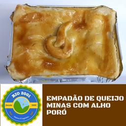 Empadão de queijo minas com alho poró
