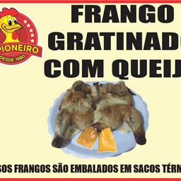 1/2 - Frango na brasa com queijo coalho