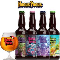 Kit Degustação Hocus Pocus com 4 Cervejas e 1 Taça