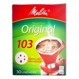 Filtro de Café Melitta 103 - 30 Unidades