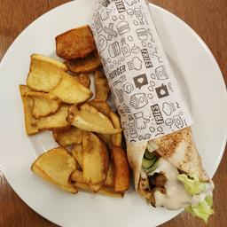 Original Kebab, Fritas Com Zattar E Chá Gelado