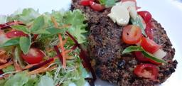 Grelhado de hambúrguer vegetariano