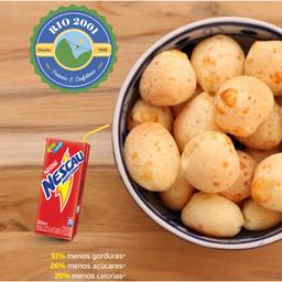 (combo) pão de queijo 100g + bebida lacta 200ml néscal