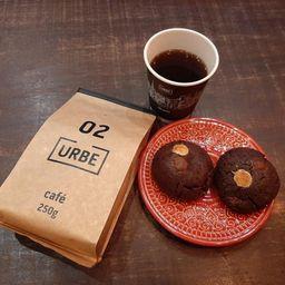 2 Cookies Chocolate e 1 Pacote de Café 250g