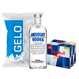 Absolut + Red Bull + Gelo