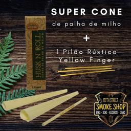 Super Cones Husk N' Roll + Pilão Rústico Yellow Finger