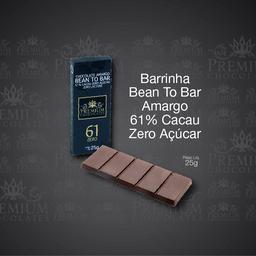 Barrinha Bean To Bar Amargo 61% Cacau Zero - 25g