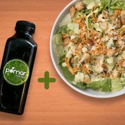 Salada Caesar e Suco