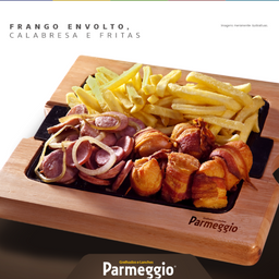 Frango Envolto + Calabresa + Fritas