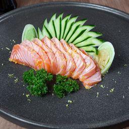 Sashimi de Salmão Trufado com Flor de Sal