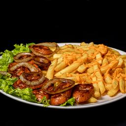 Porção de Linguiça e Batata Frita  - 450g