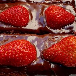 Bolo de Chocolate e Morango - Inteiro